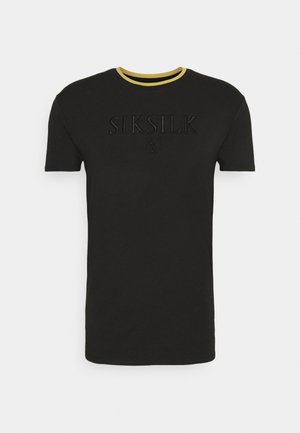 STRAIGHT HEM GYM - T-shirt basic - black & gold