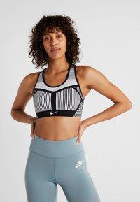 Nike Performance - FLYKNIT BRA - Sports bra - black/pure platinum - 0