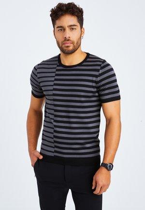 Print T-shirt - schwarz anthrazit