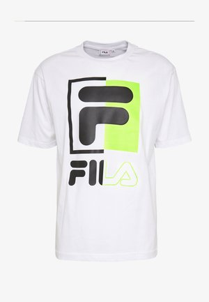 SAKU TEE - Camiseta estampada - bright white