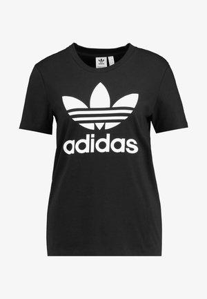 TREFOIL TEE - T-shirts med print - black/white