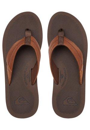 T-bar sandals - brown/brown/brown