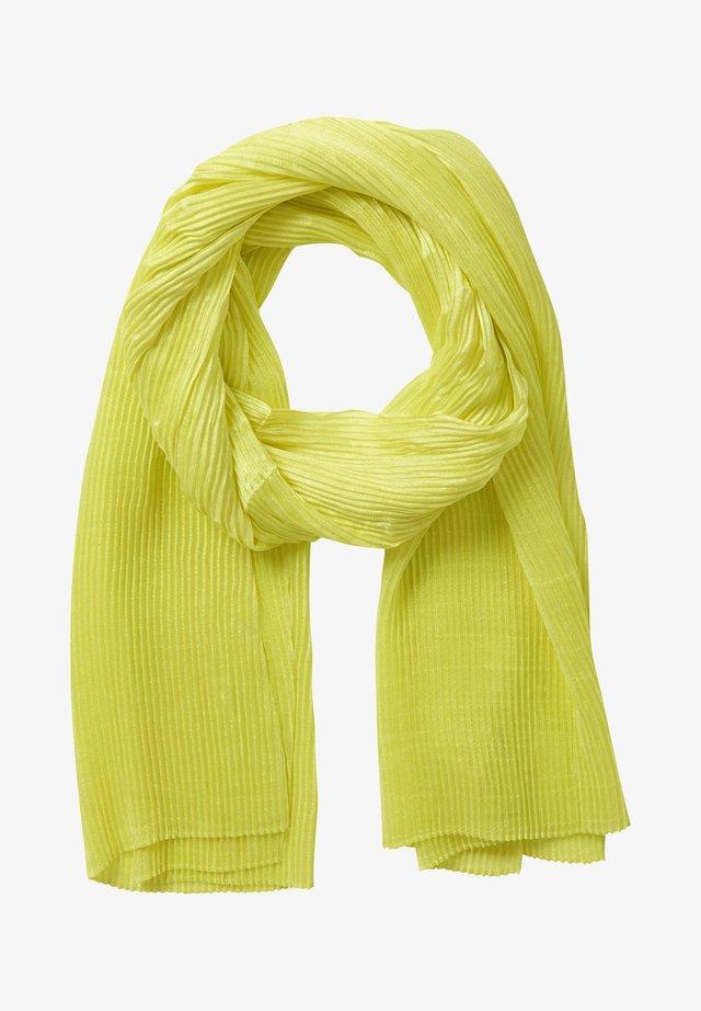 MIT PLISSEE - Écharpe - neon yellow