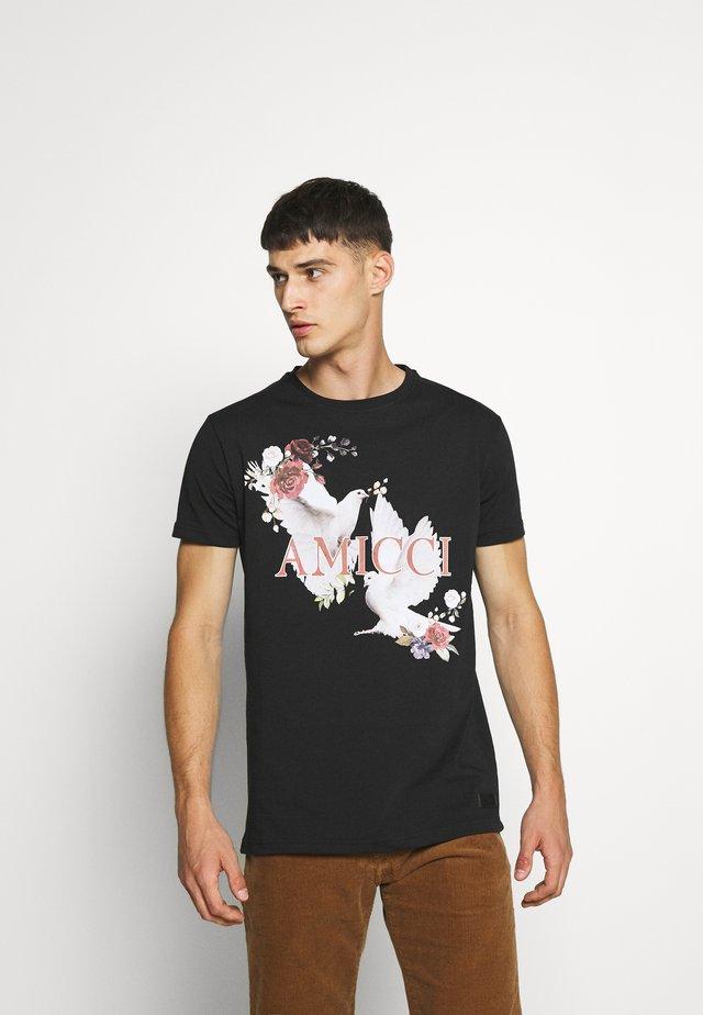 SIRMONE - T-shirt med print - black