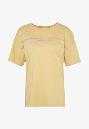 OVERSIZED TEE - Print T-shirt - golden