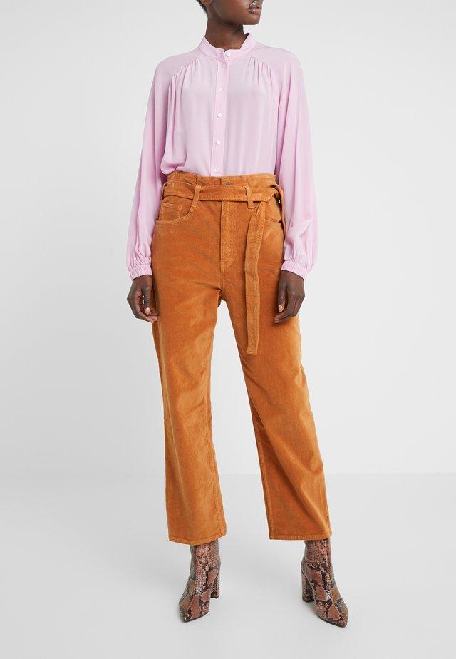 KELLY PAPERBAG - Pantalon classique - russet