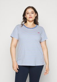 Levi's® Plus - PERFECT CREW - Print T-shirt - silphium blue - 0