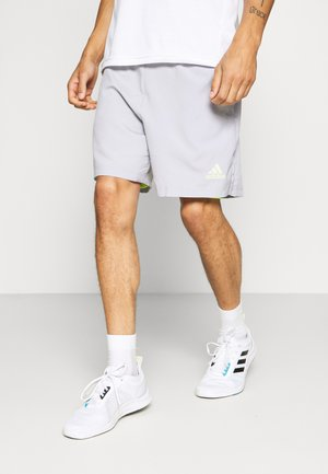SHORT - Sports shorts - glory grey/signal green