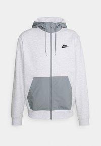 Nike Sportswear - HOODIE  - Tröja med dragkedja - birch heather/particle grey/black - 0