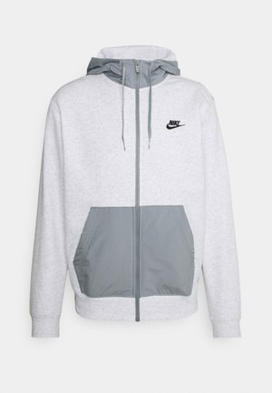 HOODIE  - Huvtröja med dragkedja - birch heather/particle grey/black