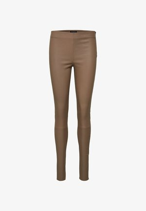 SFSYLVIA STRETCH - Leather trousers - fossil