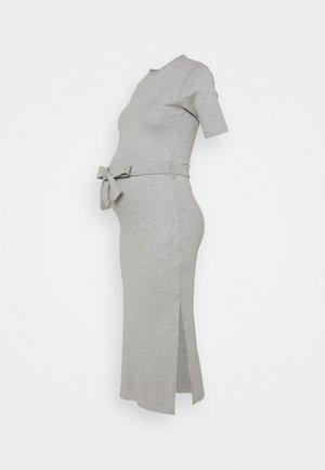 MATERNITY SPLT SIDE MIDI - Žerzejové šaty - grey