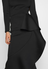 True Violet - TRUE LONG SLEEVE FRILL DRESS - Vestido de fiesta - black