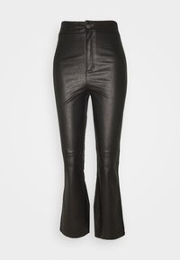 SASHA CROP VEGAN PANT - Bukse - black