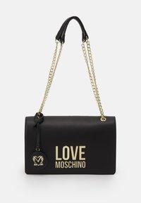 Love Moschino - NEW LOGO CHAIN FLAP XBODY - Across body bag - black - 1