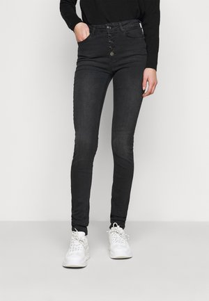 ONLBLUSH LIFE BUTTON  - Jeans Skinny Fit - black