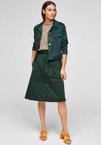s.Oliver BLACK LABEL - A-line skirt - leaf green - 1