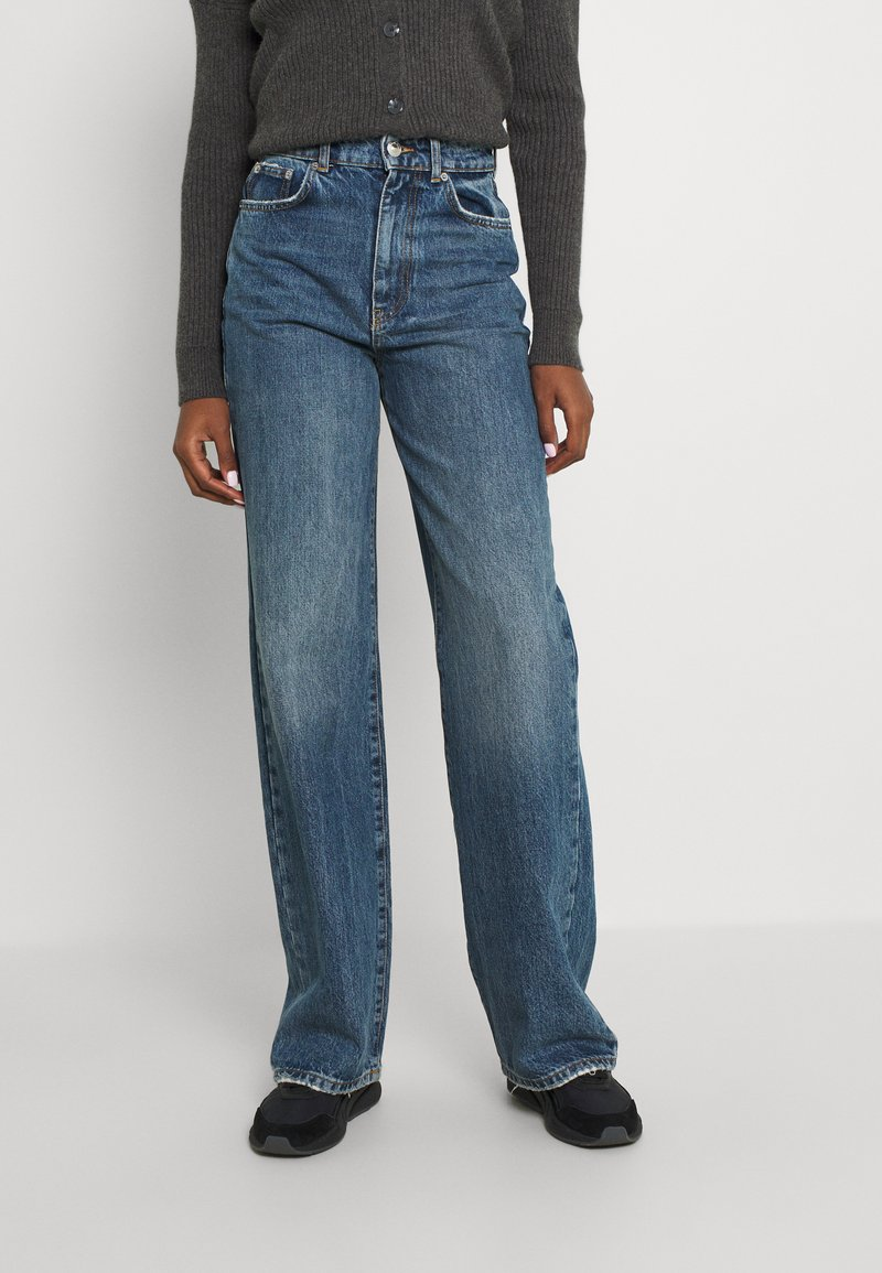 Gina Tricot Tall - IDUN WIDE - Relaxed fit jeans - dark sea blue