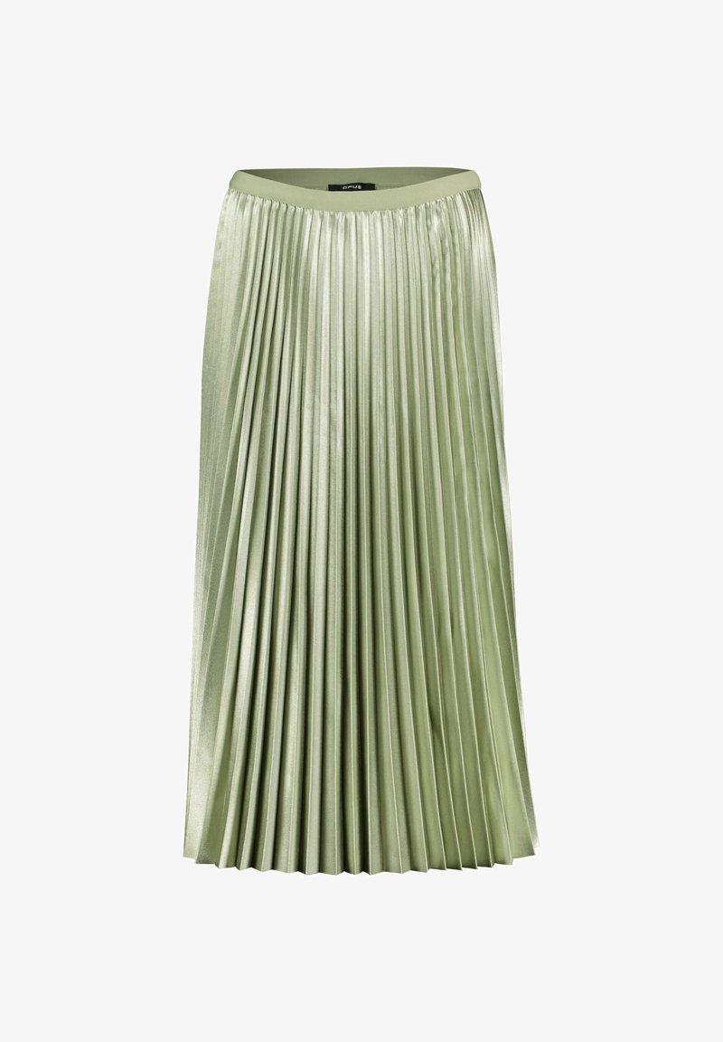 Opus - RURY - Pleated skirt - pistazie