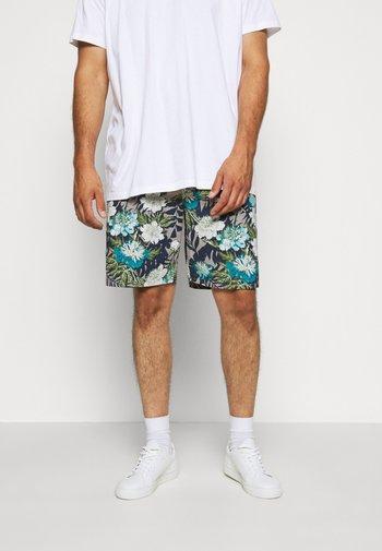 FLORAL CHAMBRAY  - Shorts - grey