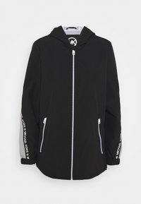 MICHAEL Michael Kors - COLOR BLOCK WITH ATTACHED HOOD - Classic coat - black nickel - 4