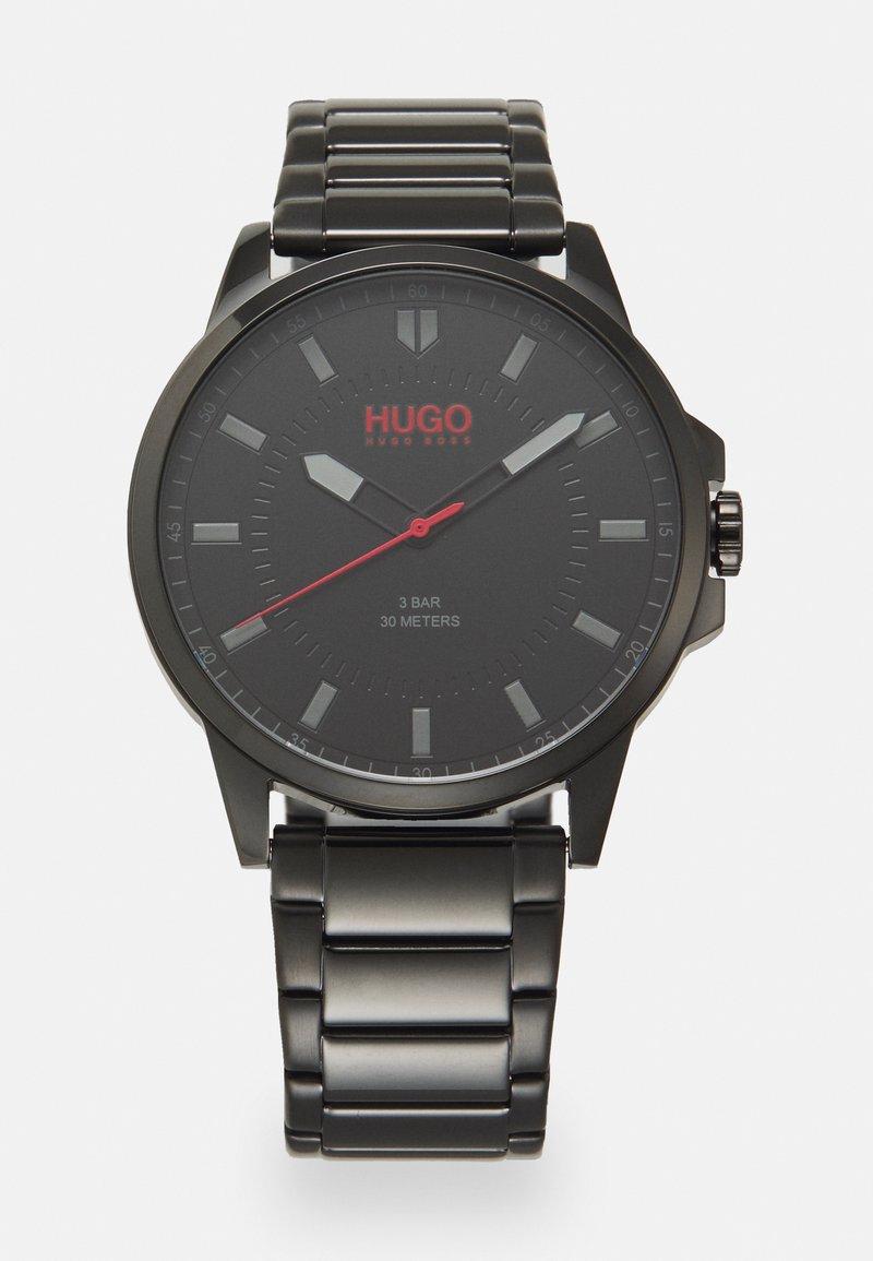 HUGO - FIRST - Hodinky - black/black