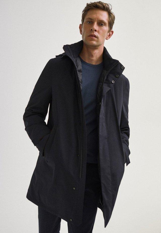 Trenchcoat - blue-black denim