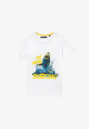 TEEN BOYS  - Print T-shirt - optical white