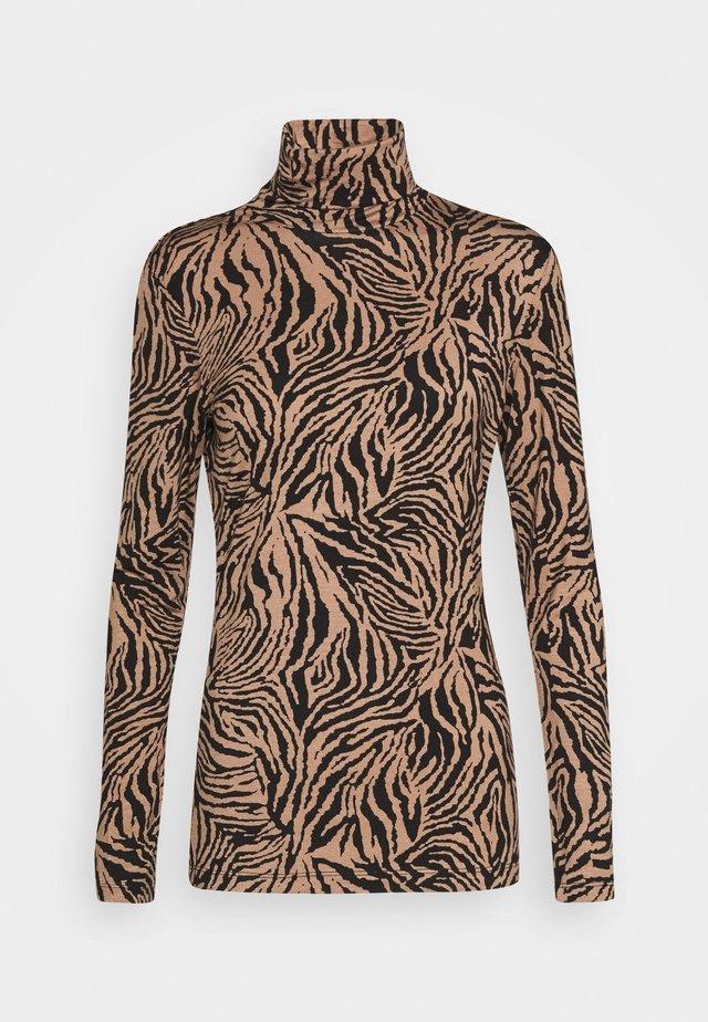 LANI ROLLNECK - Maglietta a manica lunga - woodsmoke/black