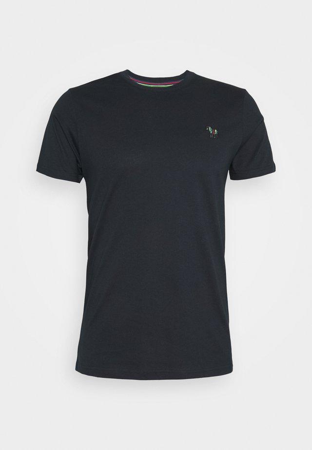 MENS SLIM FIT ZEBRA - T-shirt print - dark blue