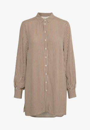DONNIEPW SH - Skjortebluser - stripe, brown