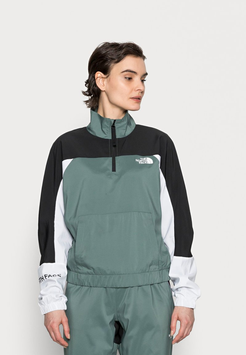 The North Face - WIND JACKET  - Giacca a vento - balsam green/black/white