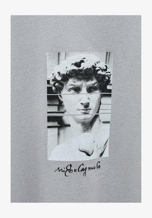 MIT MICHELANGELO-WERK - Print T-shirt - mottled grey
