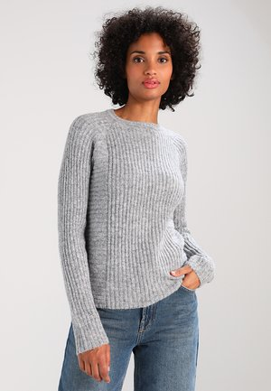 OBJNONSIA - Jumper - light grey melange