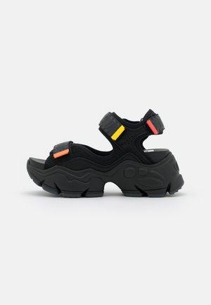 VEGAN BINARY  - Platform sandals - black