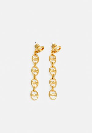 DUO LINK STATEMENT LINEAR EARRINGS - Earrings - gold-coloured
