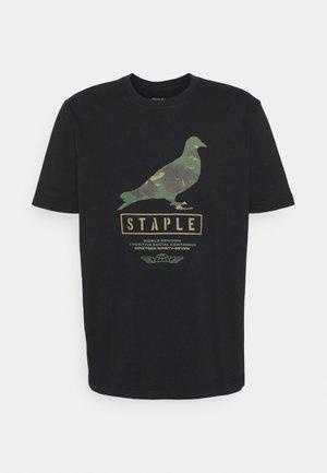 UNISEX WIRE CAMO PIGEON TEE - T-shirt con stampa - black