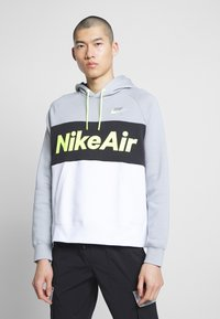 Nike Sportswear - AIR HOODIE - Huppari - smoke grey/black/white - 0