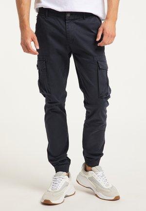 Cargo trousers - dunkelmarine