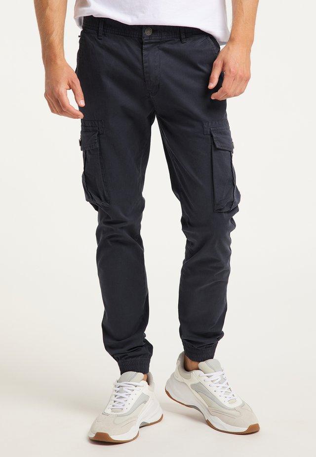 Pantalon cargo - dunkelmarine