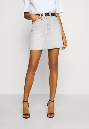 DECON ICONIC SKIRT - Denim skirt - grey ice