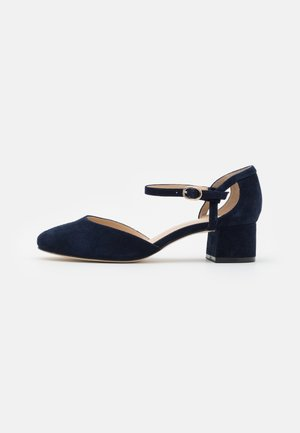 LEATHER - Classic heels - dark blue