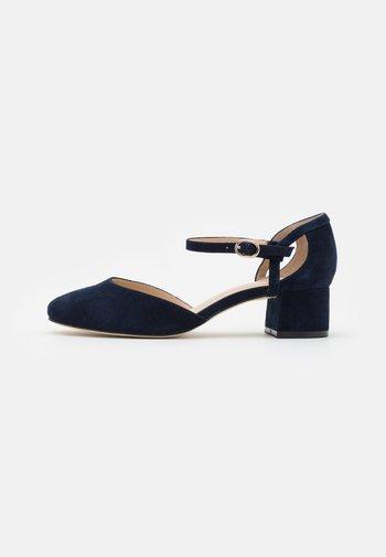 LEATHER - Classic heels - dark blue