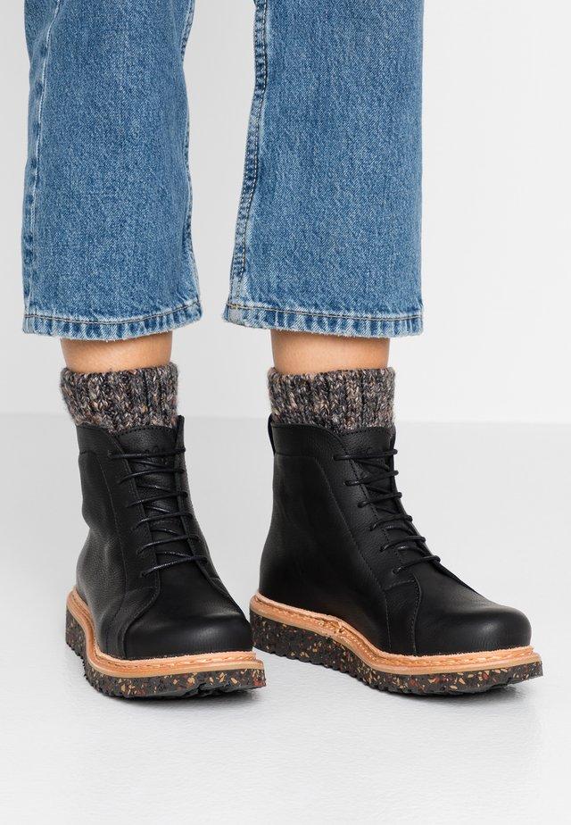 PIZZARA - Platform ankle boots - black