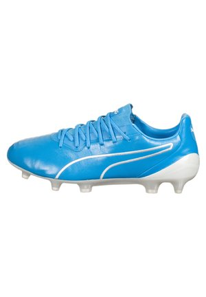 KING PLATINUM MG - Moulded stud football boots - luminous blue / white