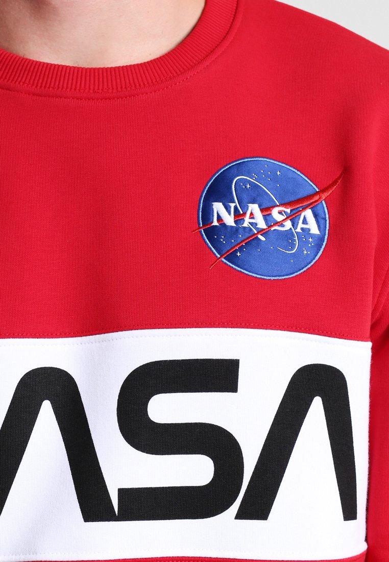 Alpha Industries NASA INLAY Sweater speed redRood