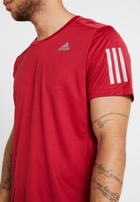 adidas Performance - OWN THE RUN TEE - Print T-shirt - red - 4