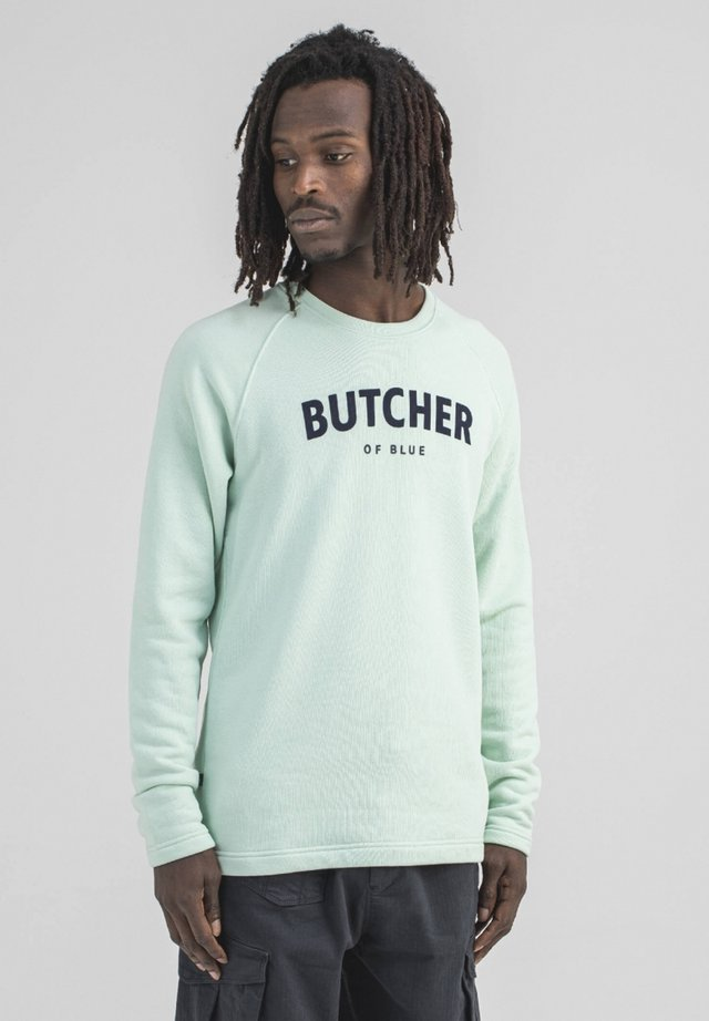 Sweatshirt - lt. jade green