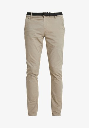 CLASSIC WITH BELT - Chinos - sand