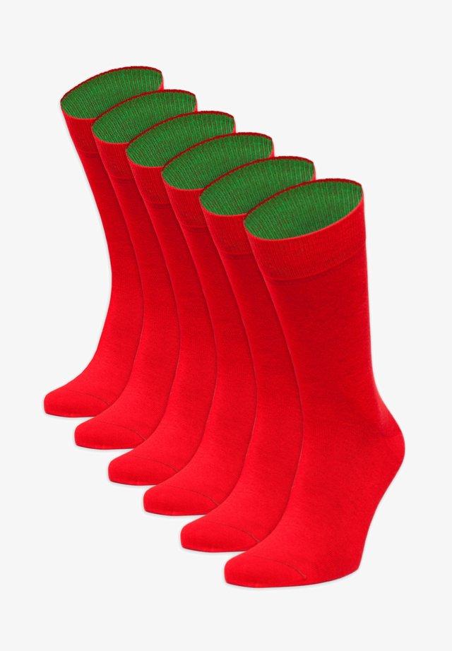 SECHSERPASCH - Socks - rot